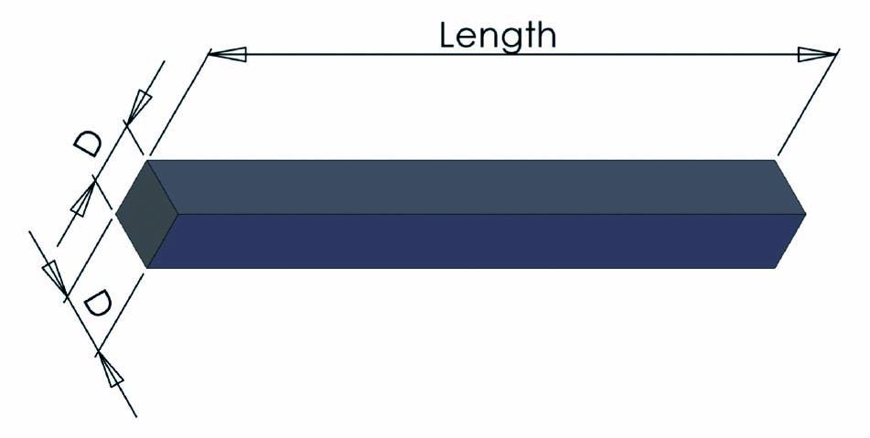 Schéma du Profilé carré en mousse